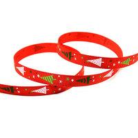Kerstlint kerstboom rood